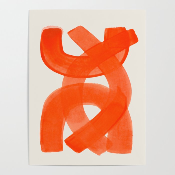 art collecting tips - abstract orange poster