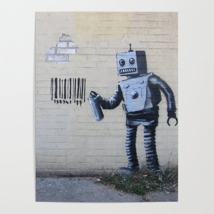 art collecting tips - banksy robot print