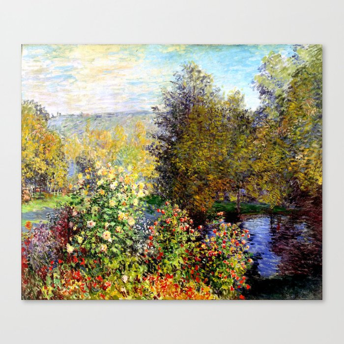 art collecting tips - impressionist monet garden canvas print