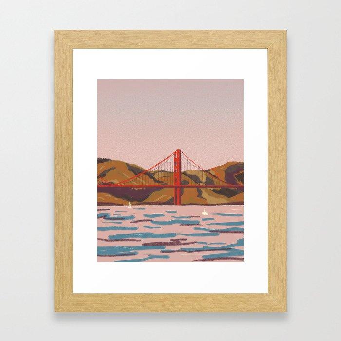 art collecting tips - impressionist art, golden gate bridge framed print