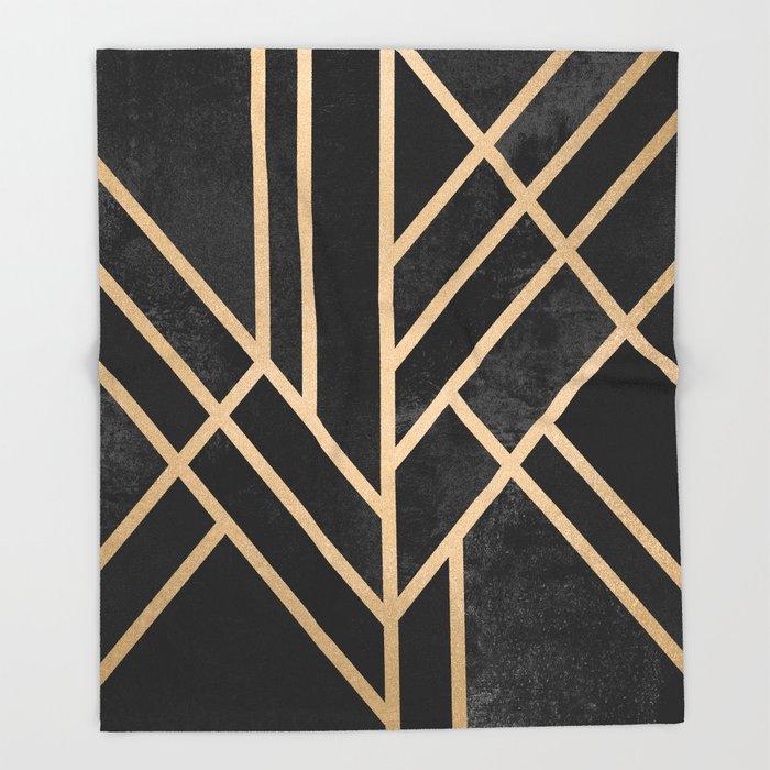 contemporary art throw blanket