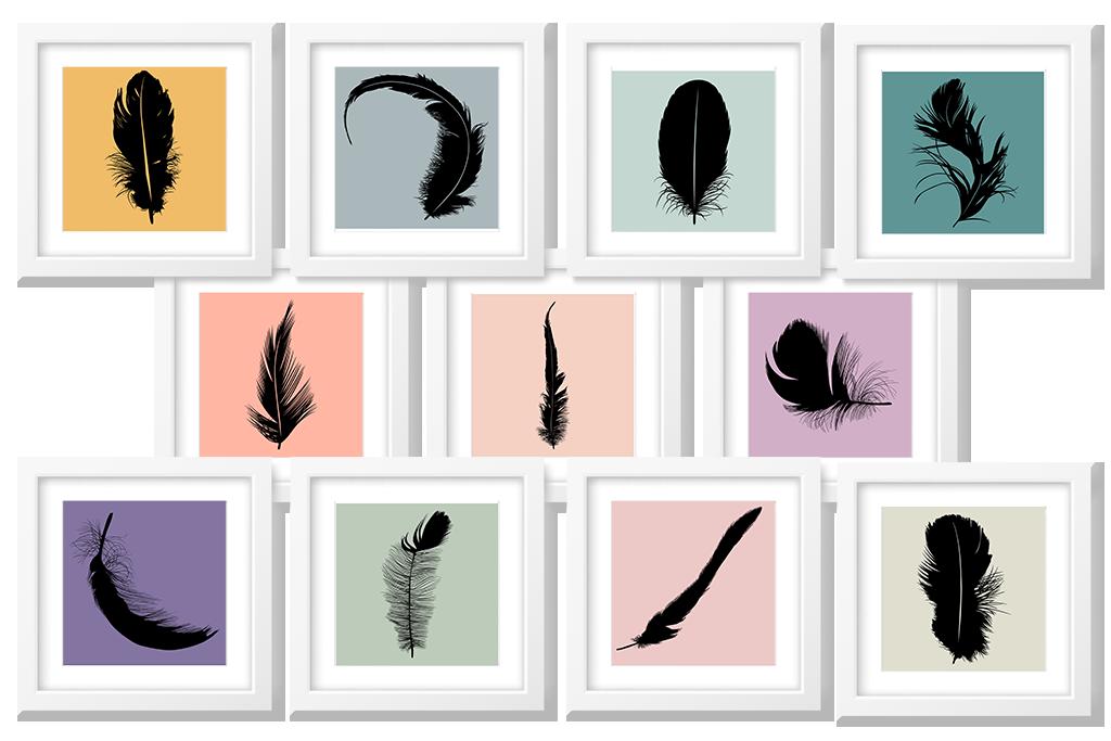 free feather art printables
