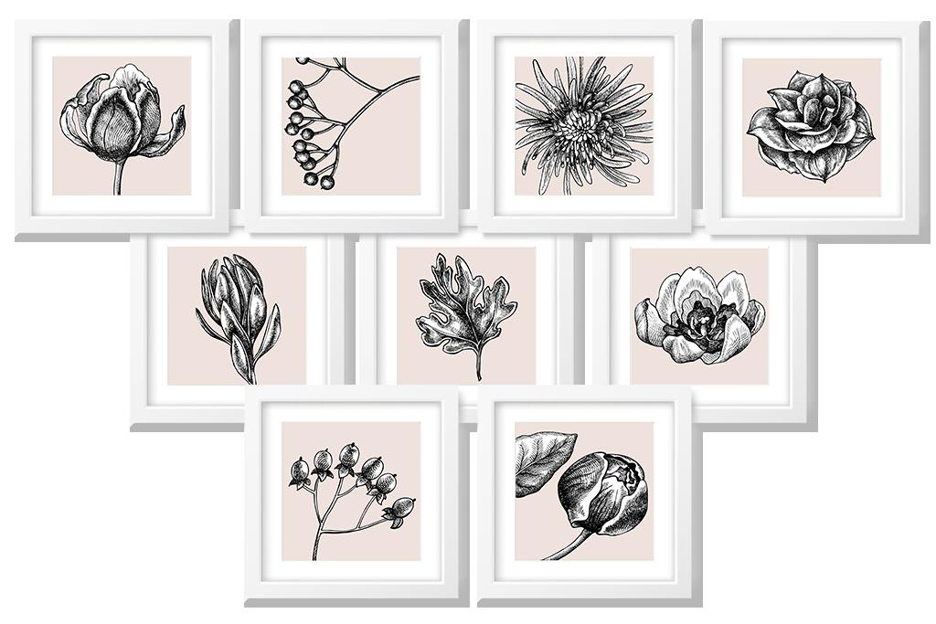 flower art printables 8x8