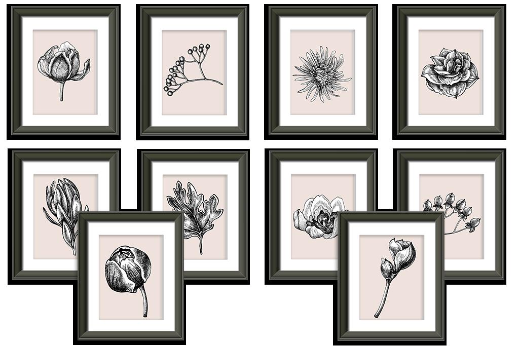 flower printables 5x7