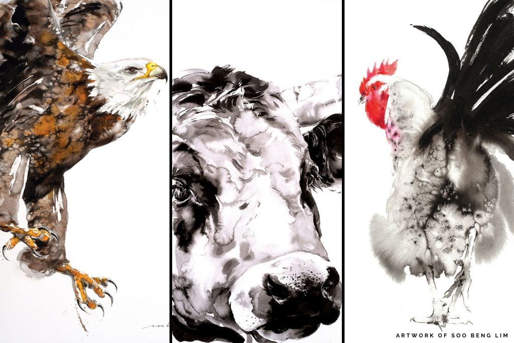 ink wash paintings