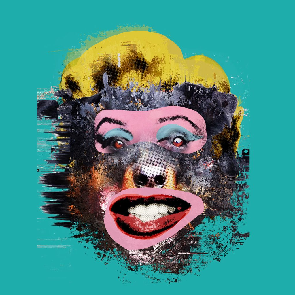 print of scary Marilyn Monroe