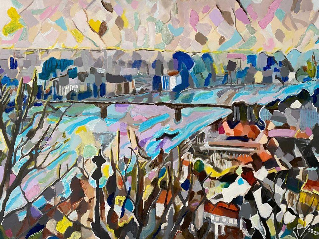 painting of danube river