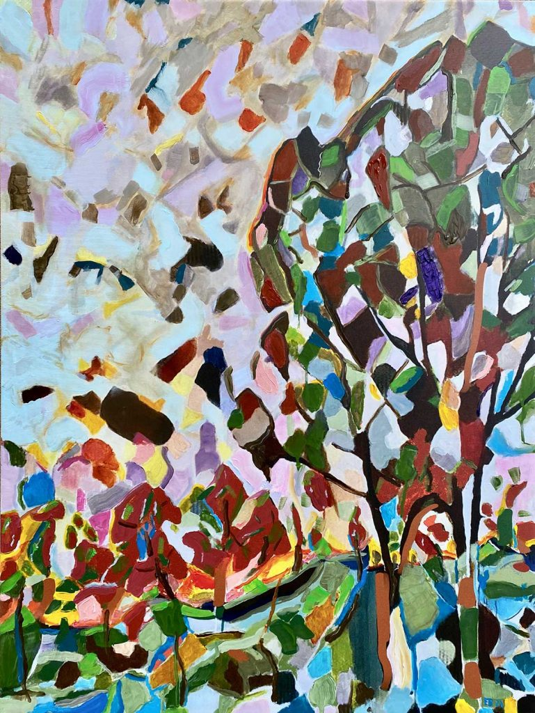 painting of grove of trees