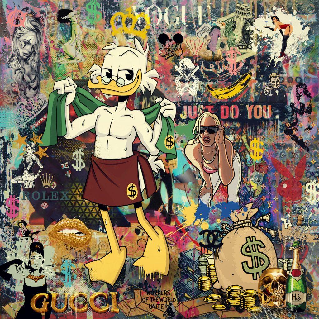 artwork of scrooge McDuck