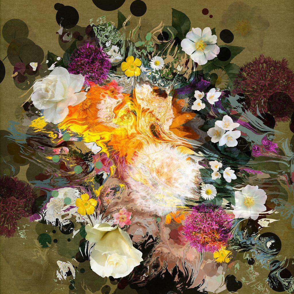digital artwork of flowers