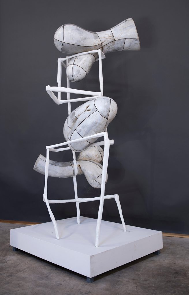 white abstract sculpture