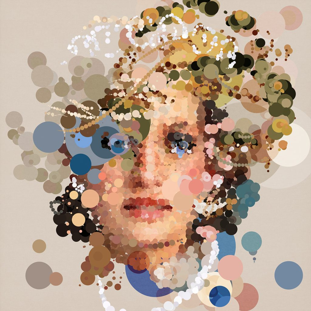 digital art of Princess Diana