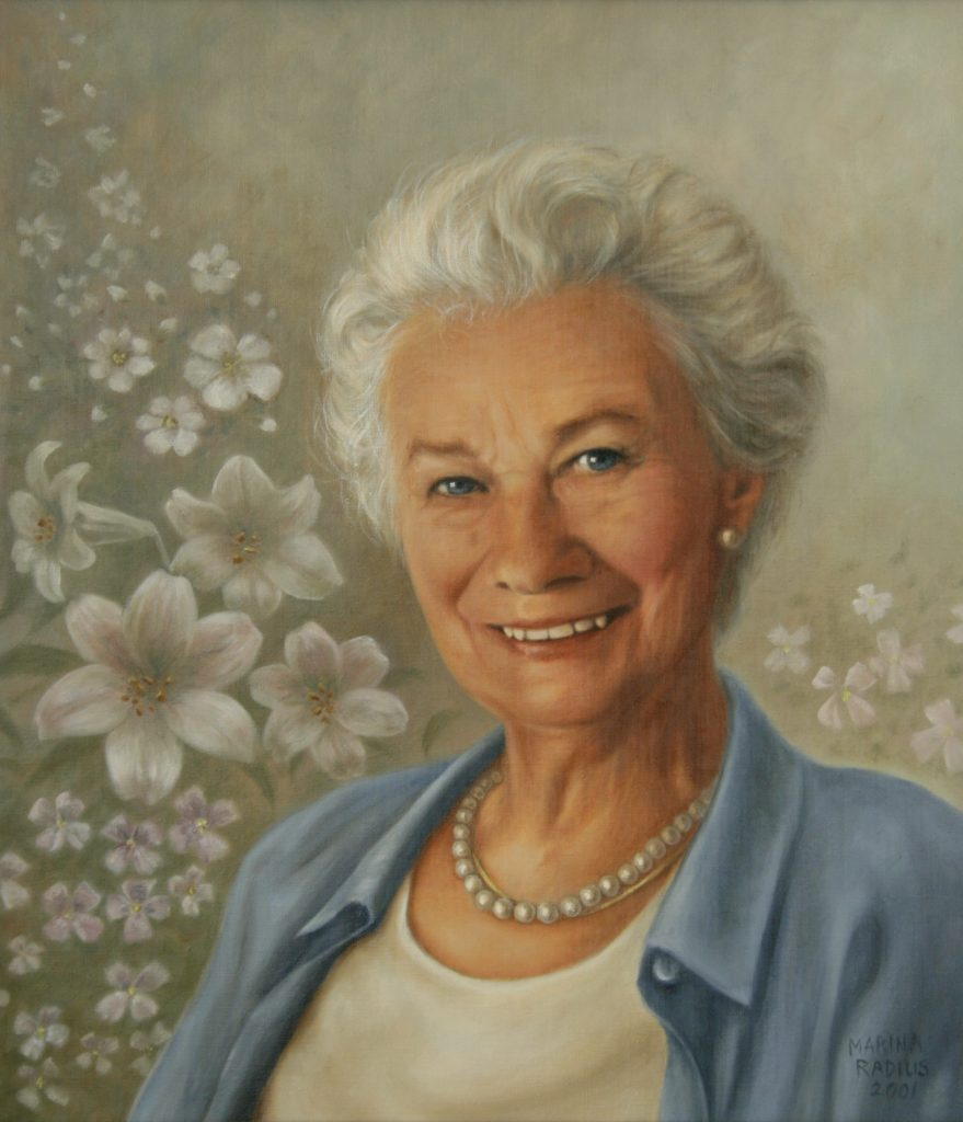 painting of older woman