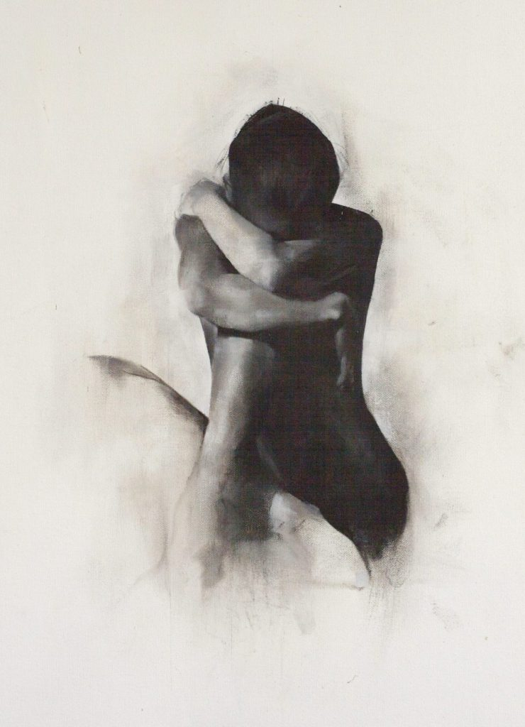 nude graphite drawing