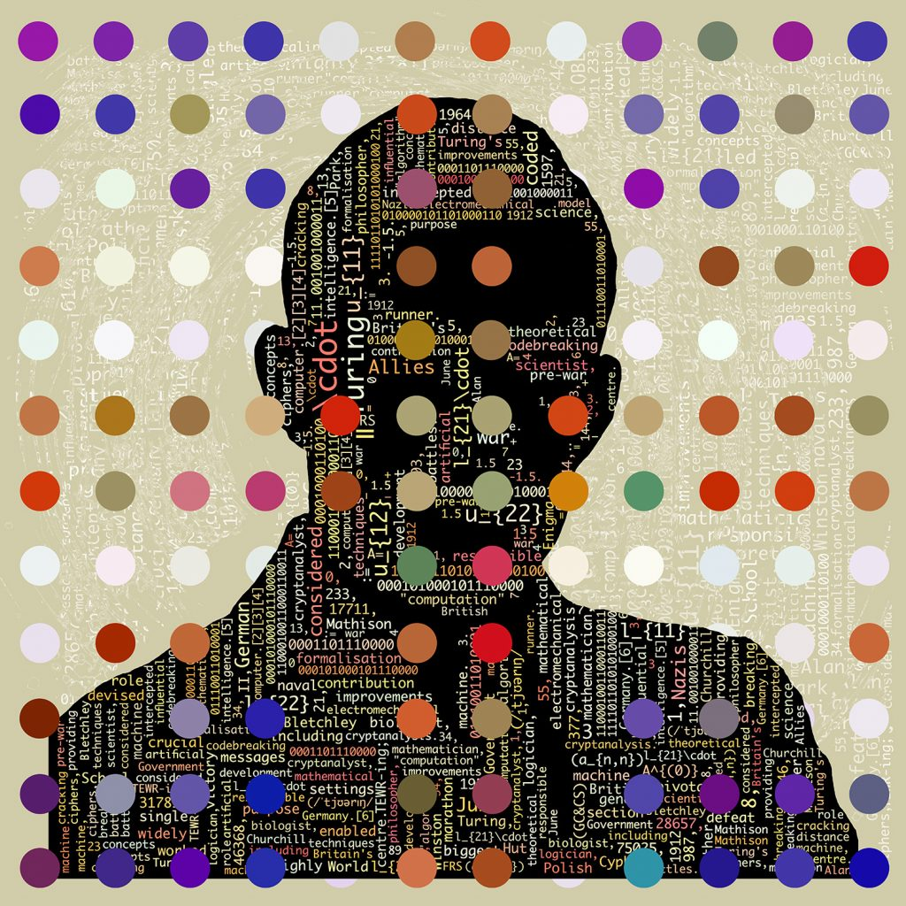 digital art piece of Alan Turing