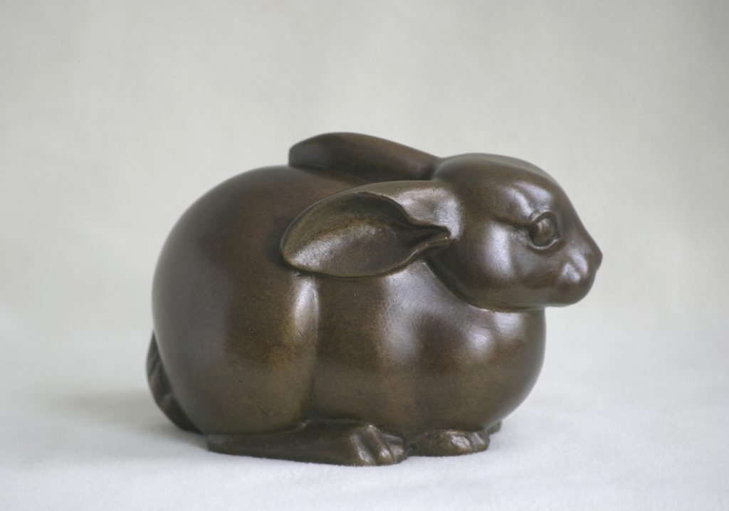 sculpture of a young rabbit