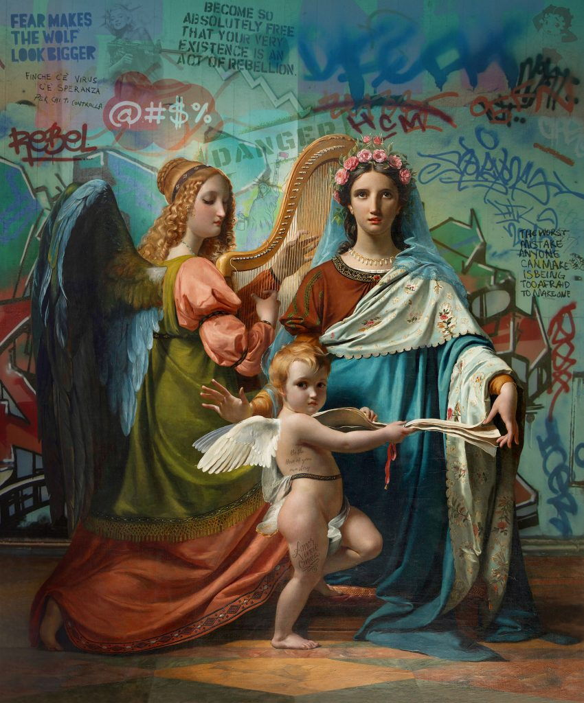 painting of urban angels