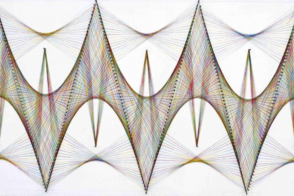 geometric wall sculpture
