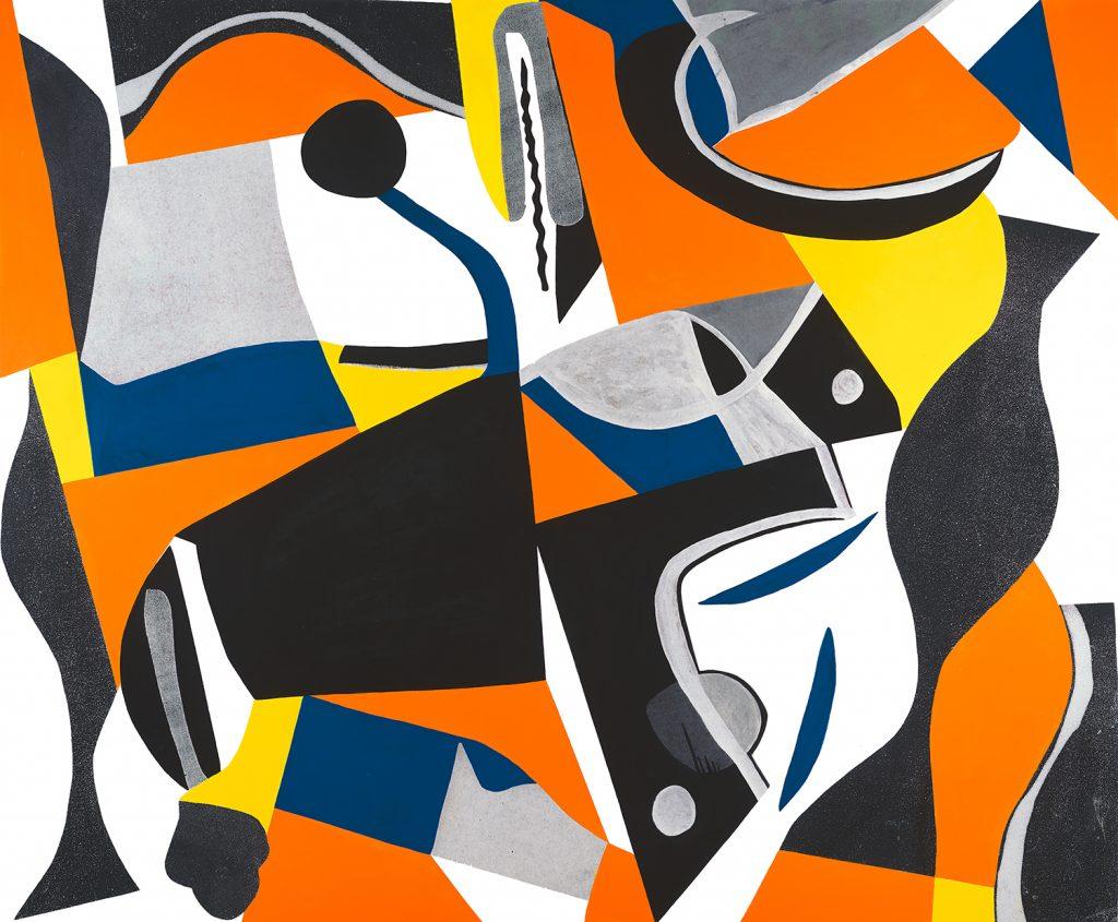 mid-century abstract pop art