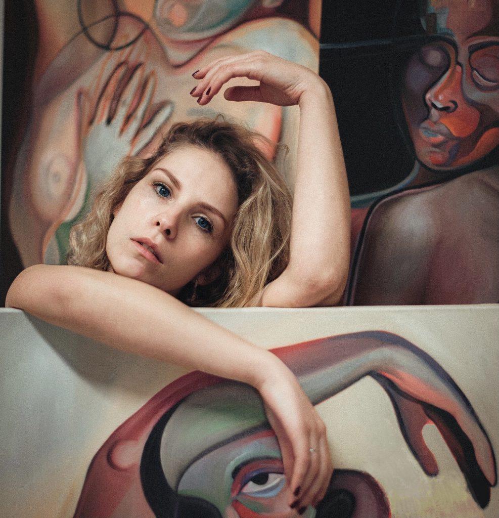 portrait of cubism artist Alessandra B-B