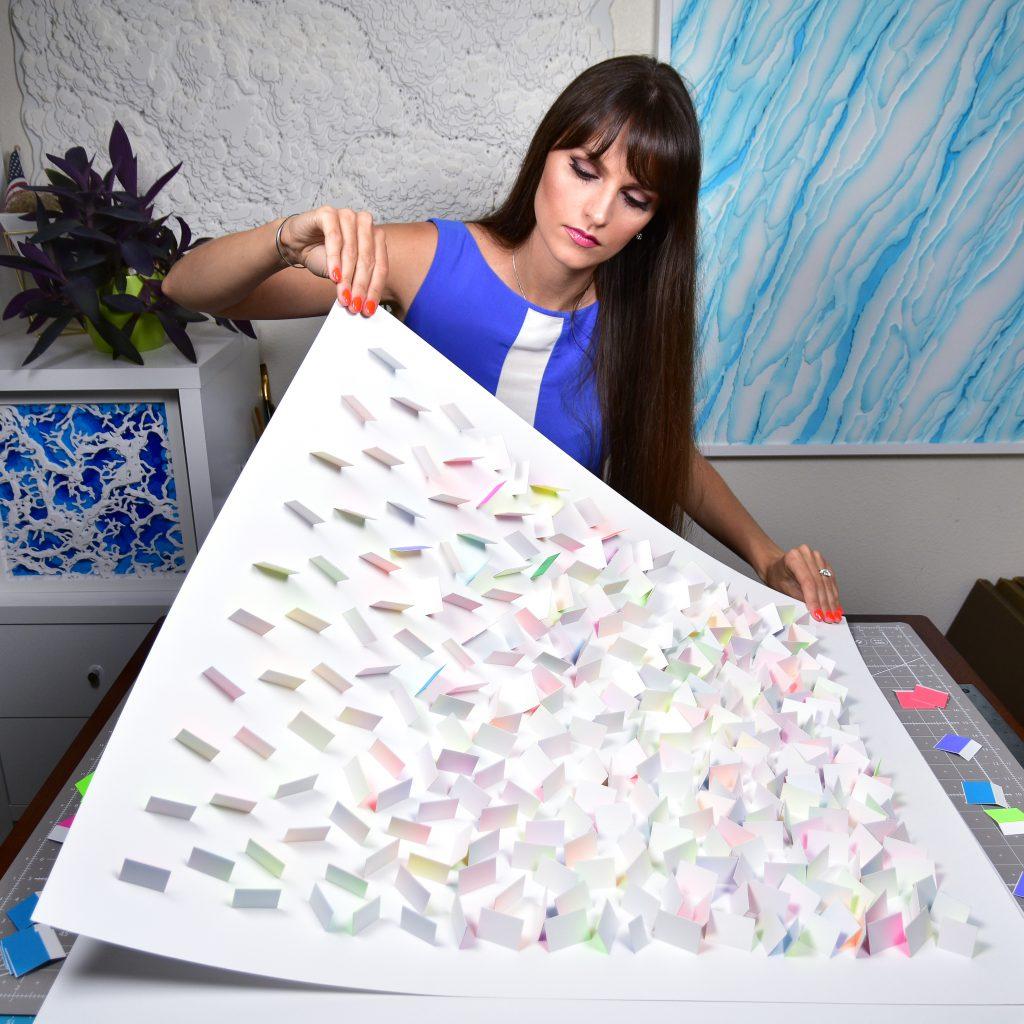 Olga Skorokhod Colorful Rain Paper art