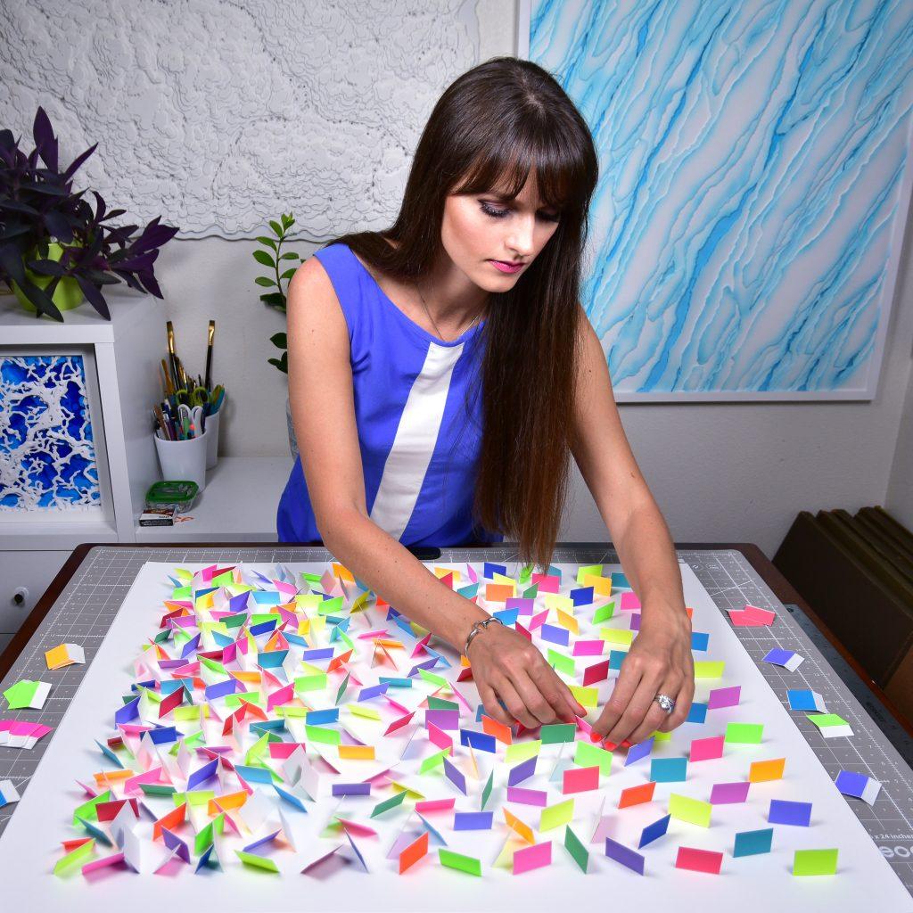 Olga Skorokhod Colorful Rain 3 Paper art
