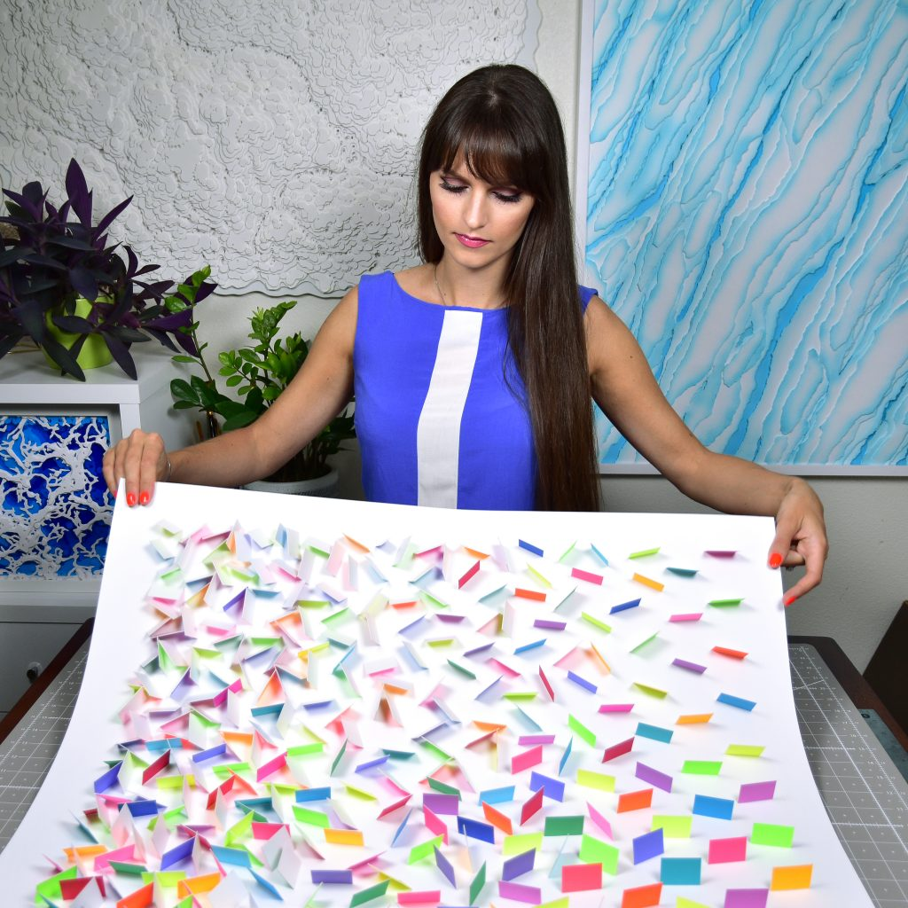 Olga Skorokhod Colorful Rain 4 Paper Art