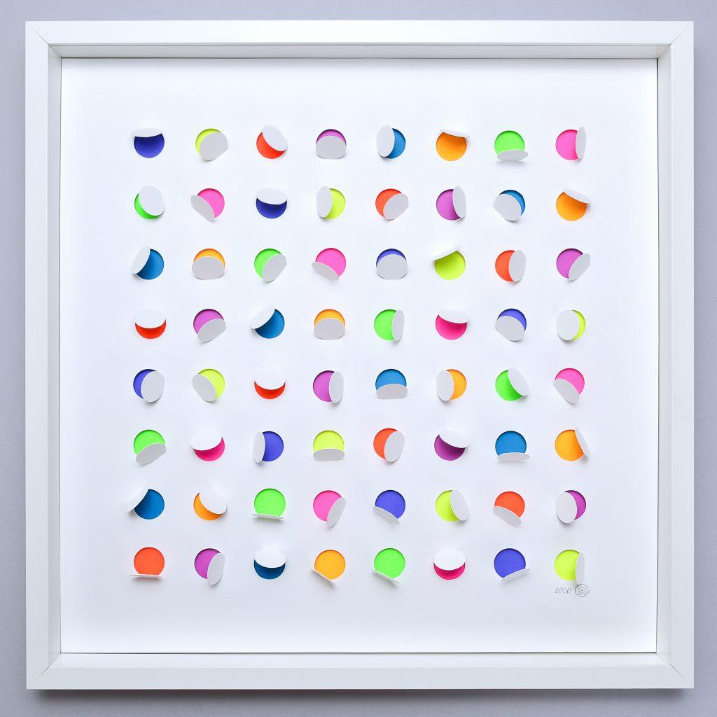 Paper wall art, Drops of Color