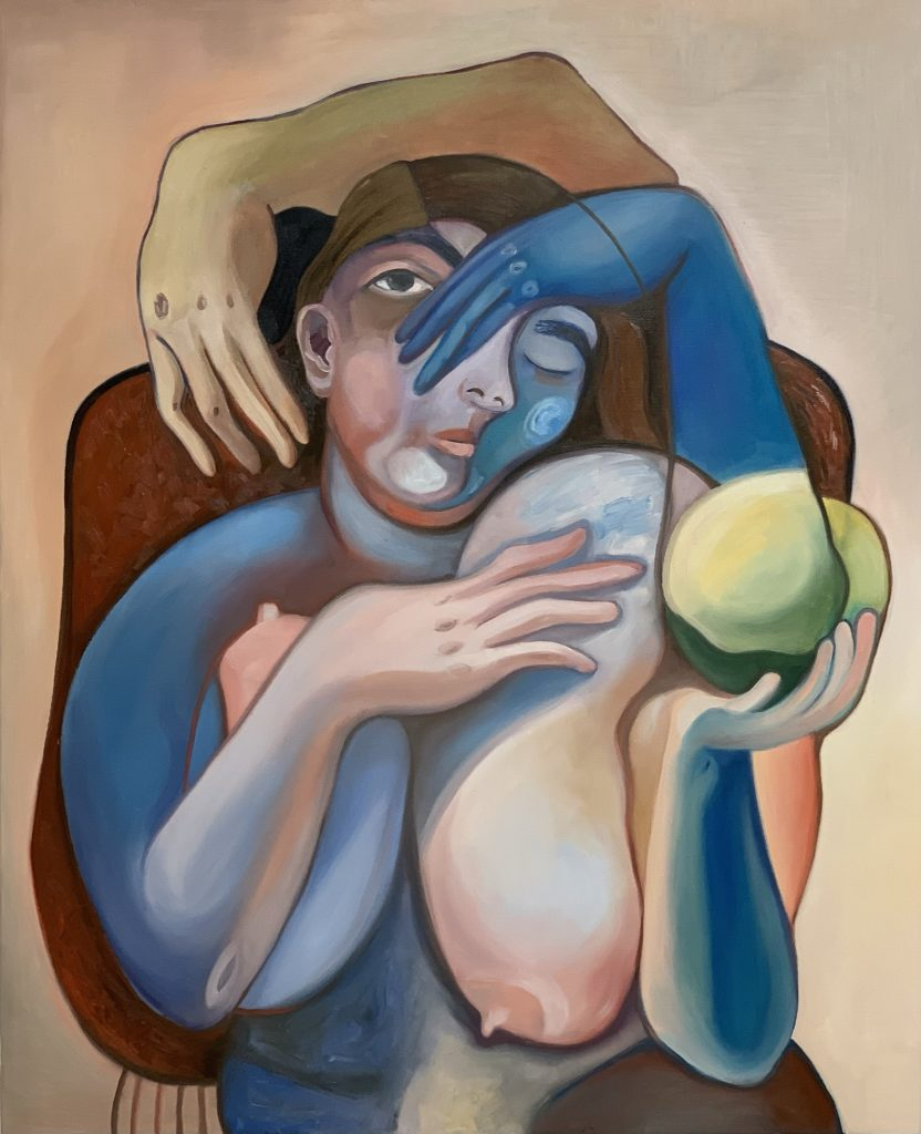 cubist painting of woman