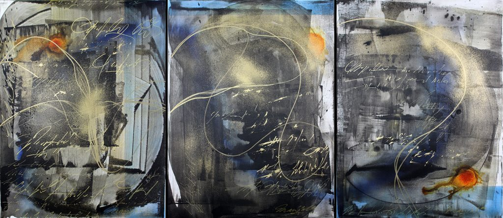 "Triptych ""Speech Of A Decay"" by multidisciplinary artist"