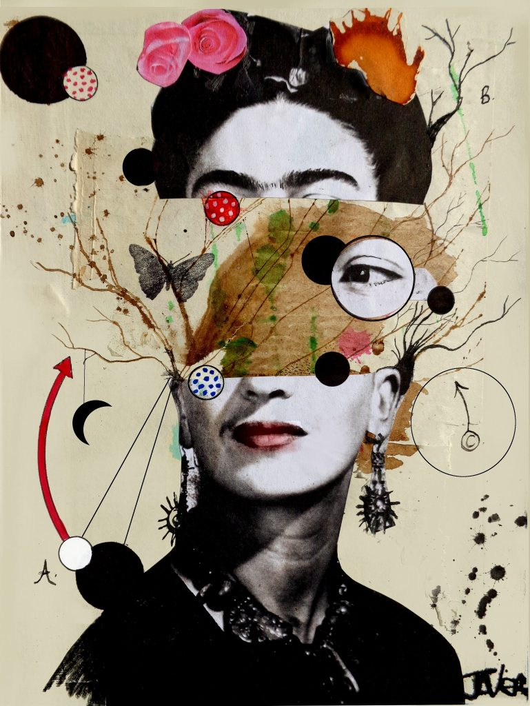 deconstructing frida Collage by Loui Jover