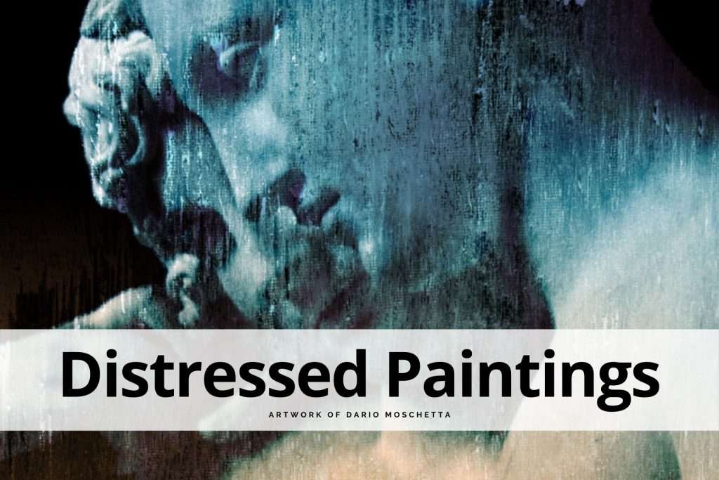 distressed paintings