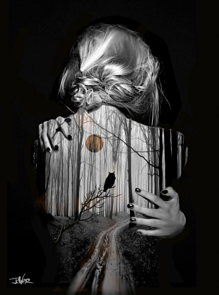 linger digital collage page art