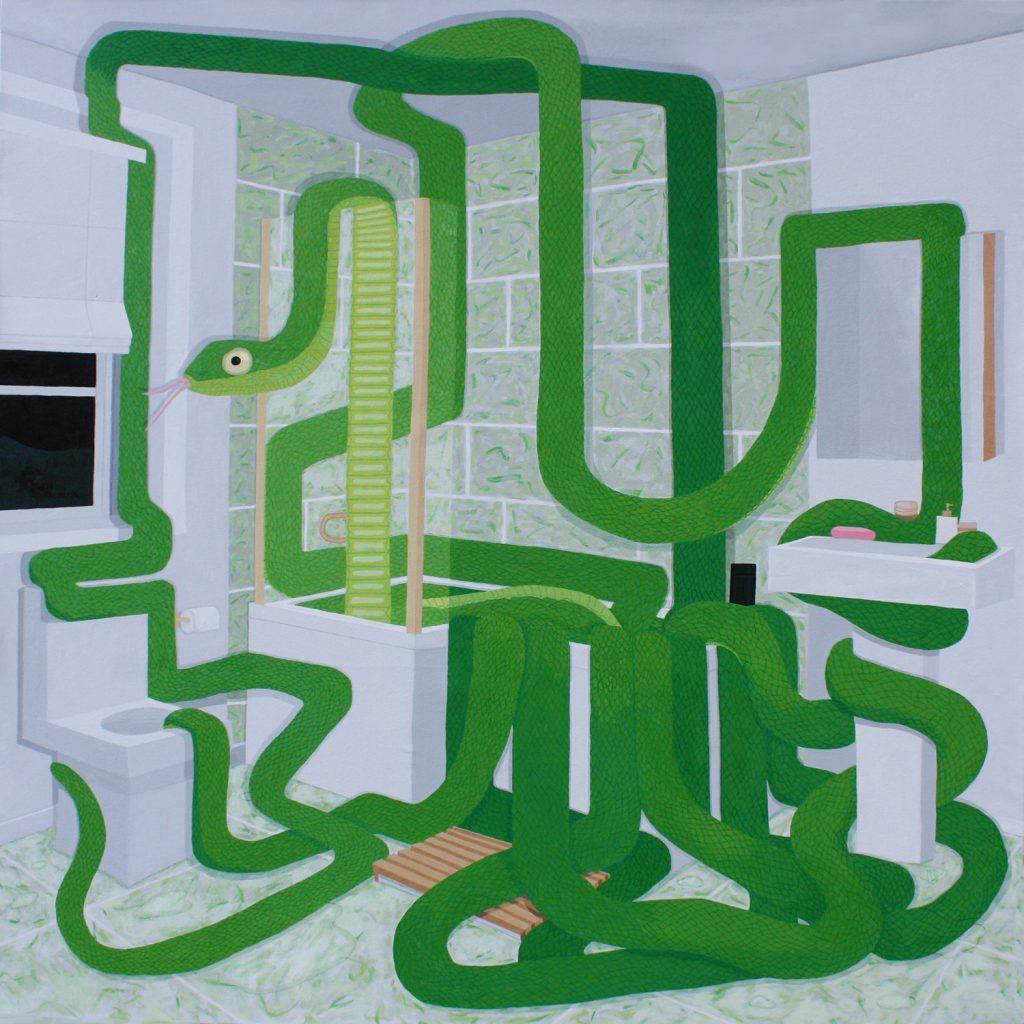 Snake in the bathroom art