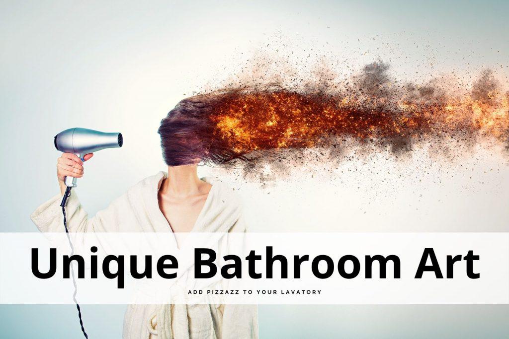 unique bathroom art