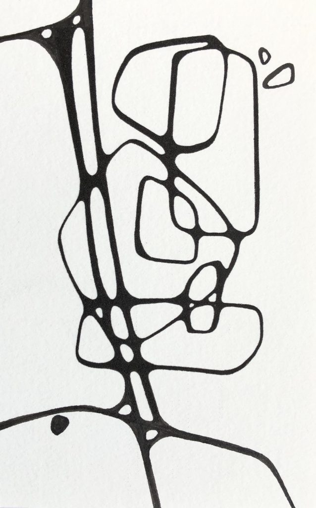 Mid-mod Ink on Paper Lisa Bolin