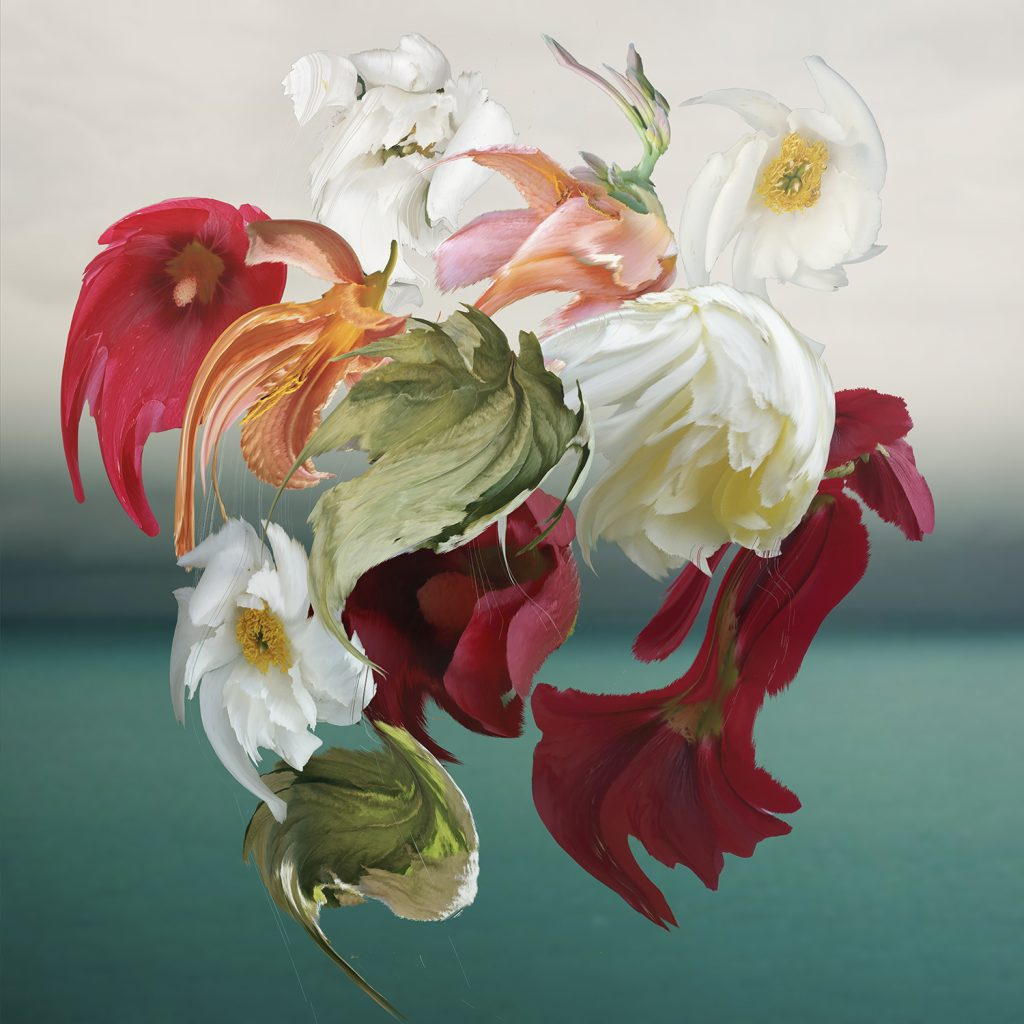 Flower and Sea floral art print