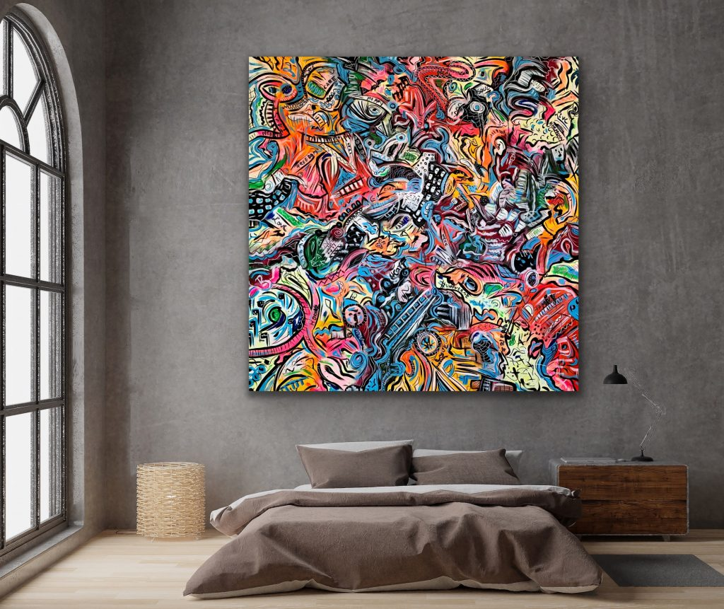 Life in Colors 32 Large wall Art Painting by Veronica Vilsan