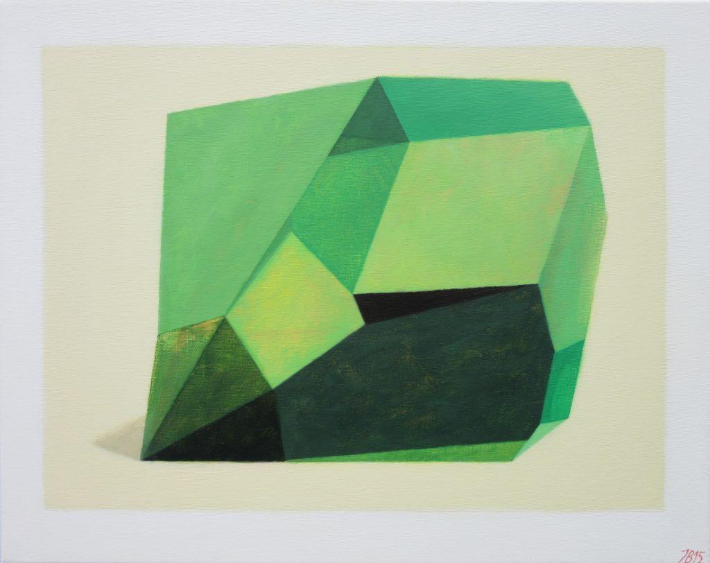 Ieva Baklane Flach ''Green structure'' 16'' X 20'' acrylic.canvas 2015