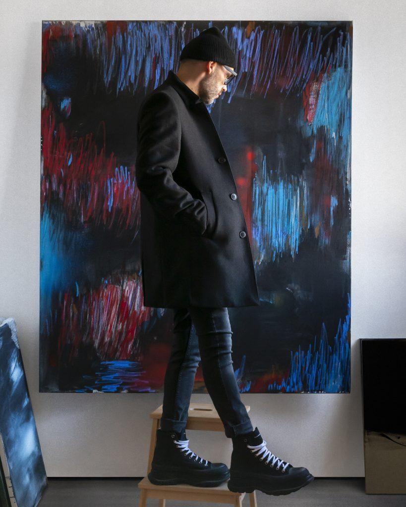 INTERNAL S T R E S S 2. large wall paintingby Krisztian Tejfel