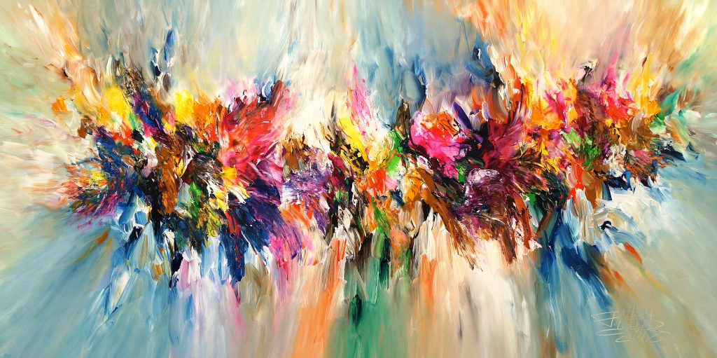 Energy Cloud XXL 1 extra large Contemporary acrylic painting on canvas