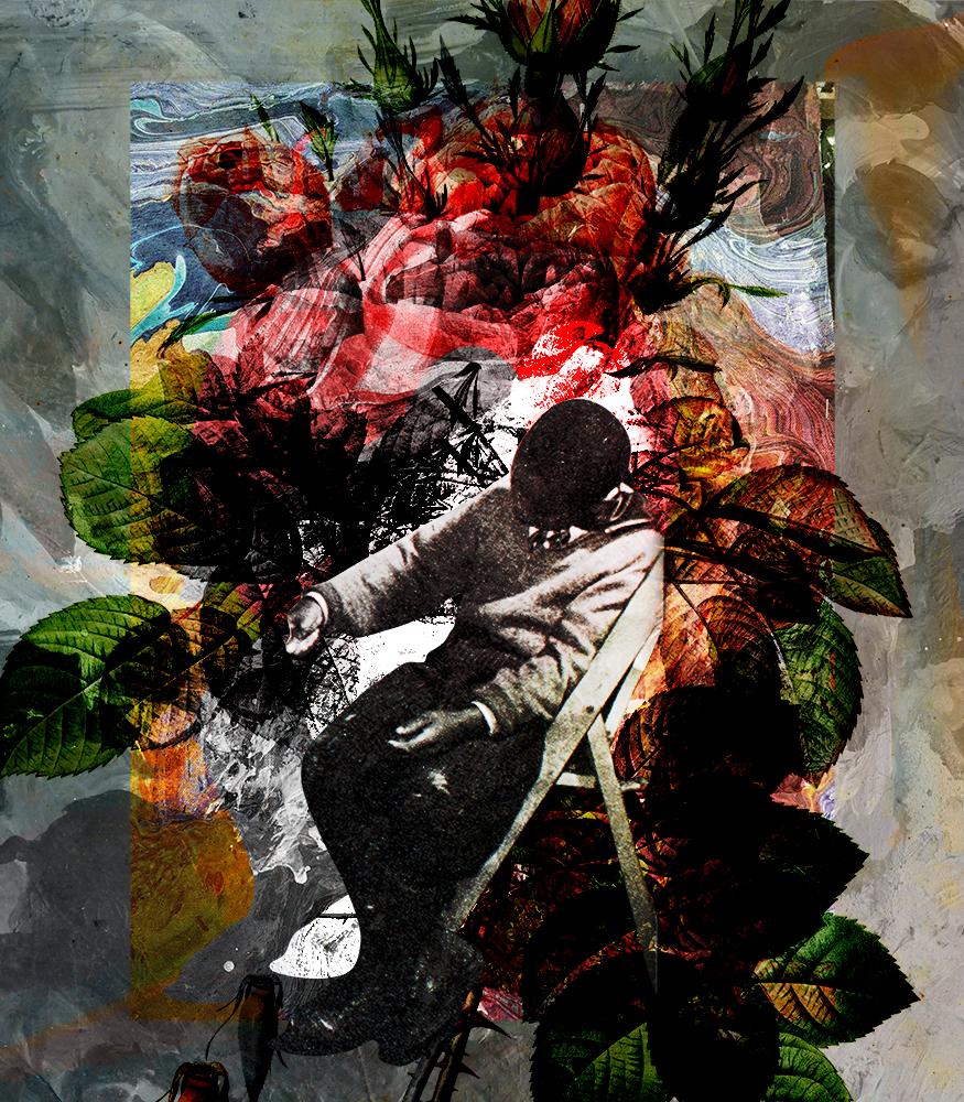 Protagonista digital print by Luise Eru