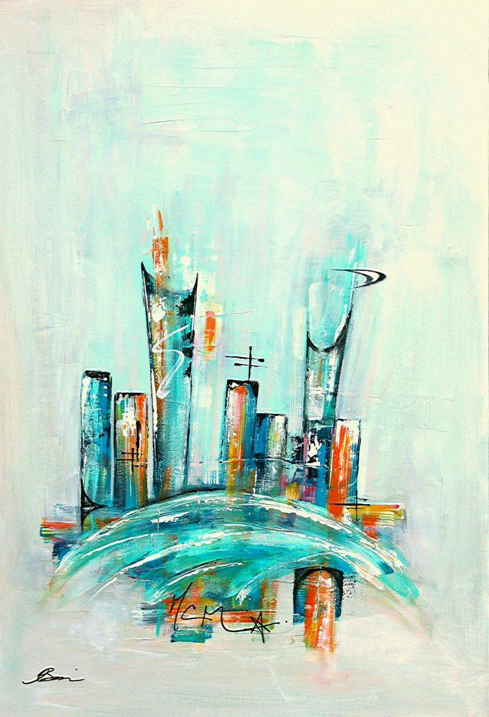 Uptown XX, midcentury modern skyline