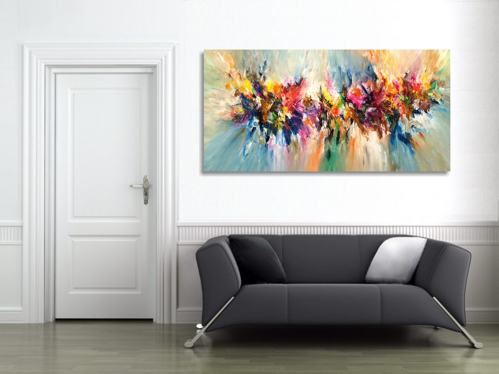 Energy Cloud XXL 1, Abstract Large Wall Art by Petter Nottrott