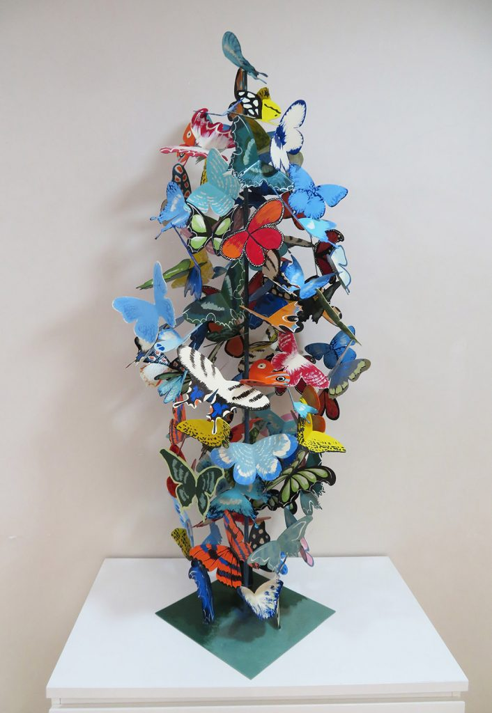 """""""102 Butterflies"""", A colorful composition of flying butterflies by Liliya Pobornikova"""
