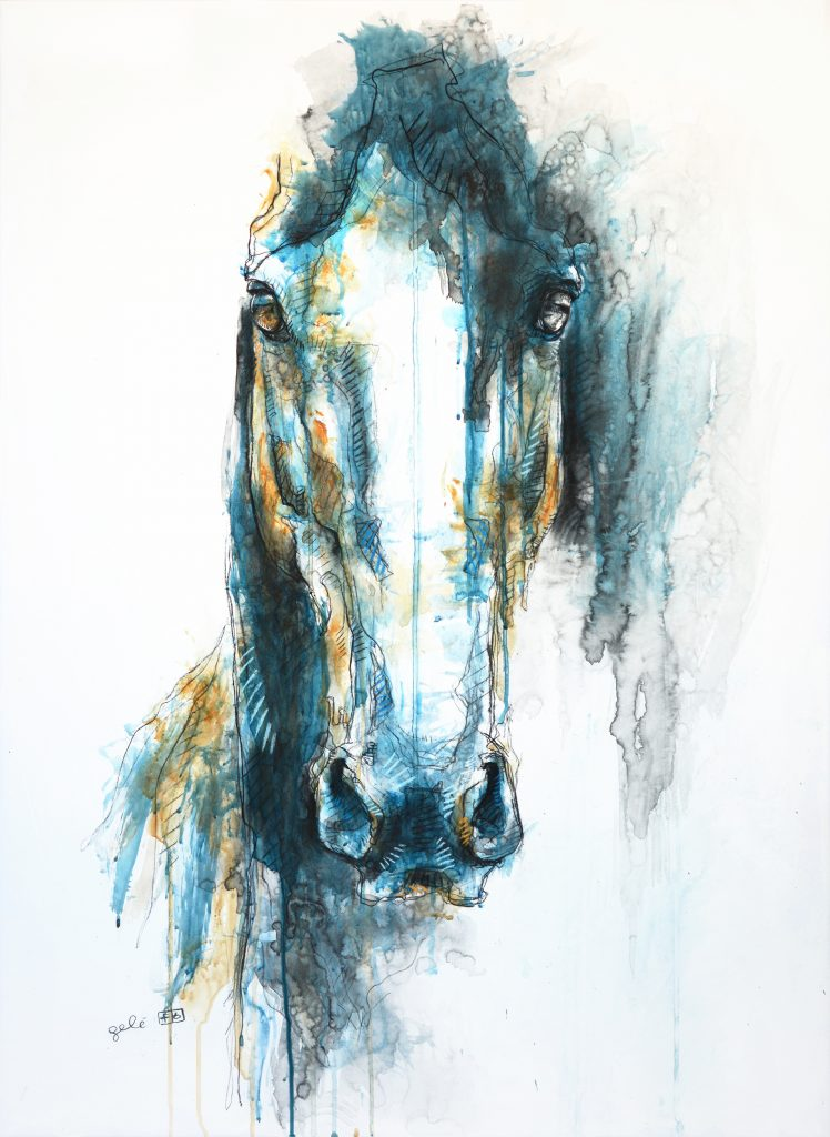 expressive horse painting