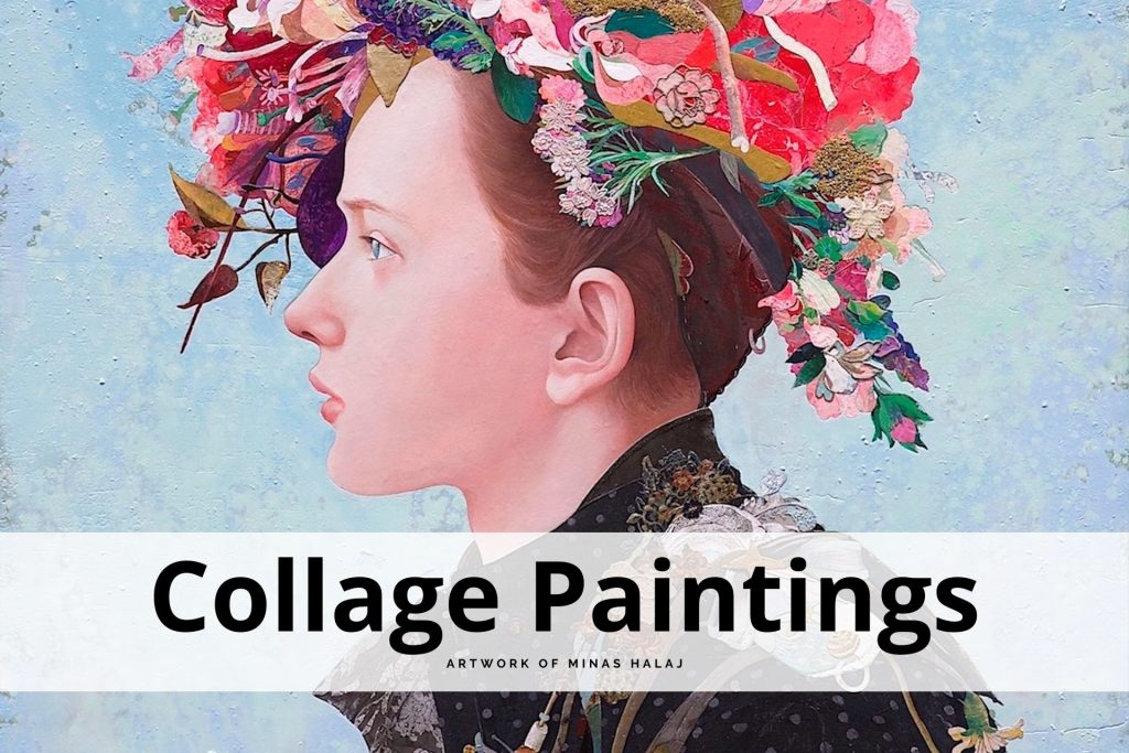 collage paintings by Minas Halaj