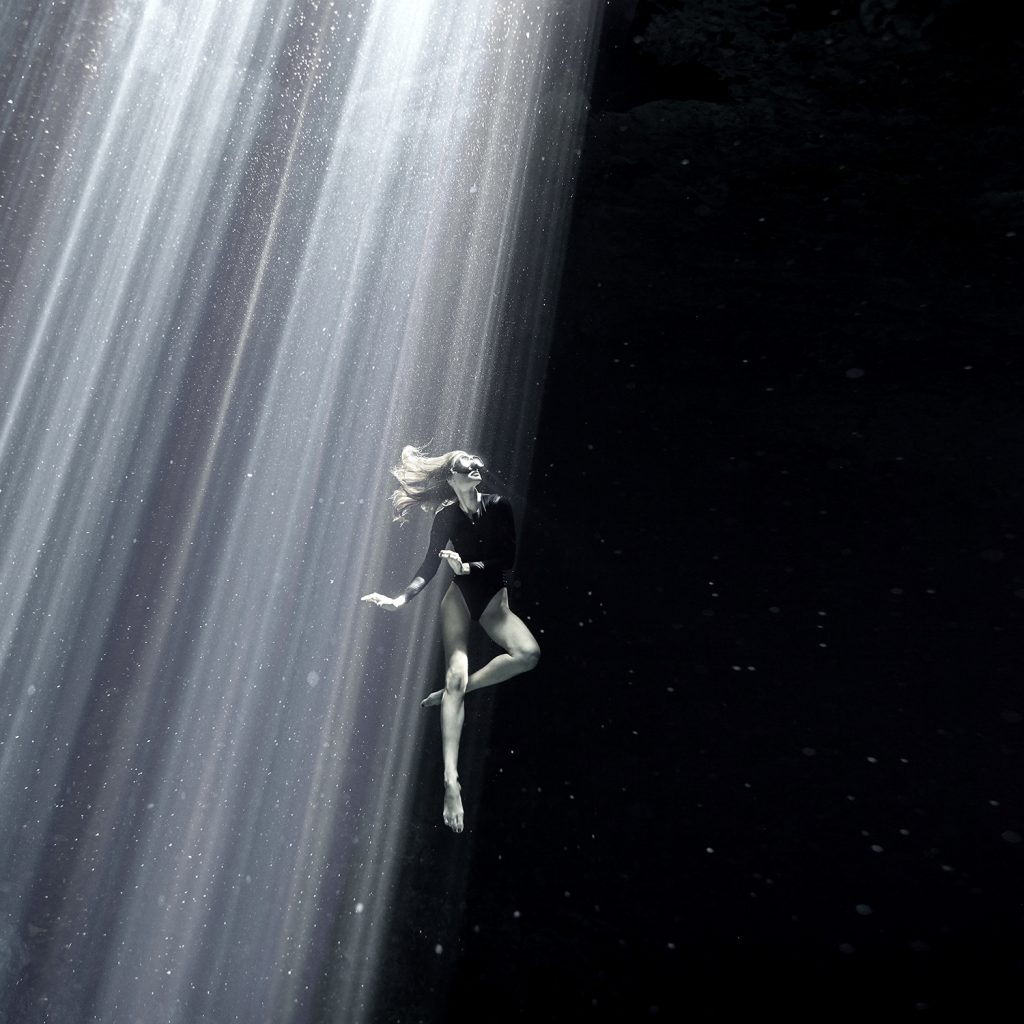 Freediving in some of the most beautiful Caves of Mexico