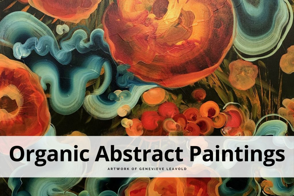 organic abstract paintings by Genevieve Leavold