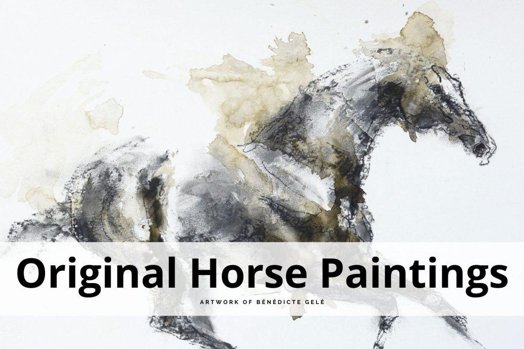 original horse paintings by Bénédicte Gelé